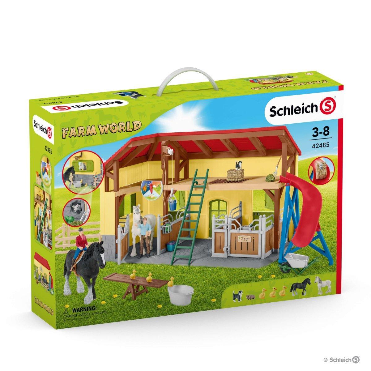 Schleich 42485 Horse Stable With Accessories Farm World New Ebay