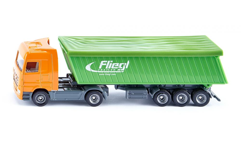 Siku 1796 Mercedes Actros Truck with Fliegl Tipping Trailer Diecast ...