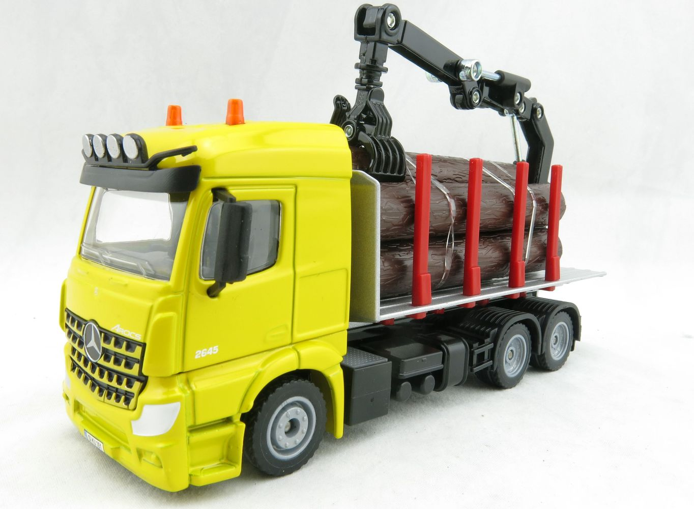 Product Image - Siku 2714 - Mercedes-Benz Acros Log Transporter Version  2018 - Scale